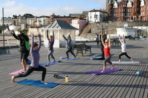 Yoga on the Pier