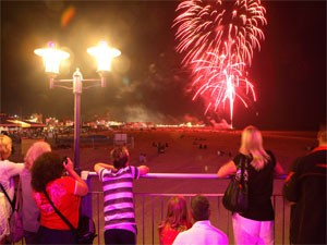 Summer Fireworks at Great Yarmouth Central Beach